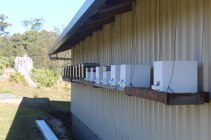 Member, Neville Anderson's personal Native Stingless Bee Hives (protected from weather)