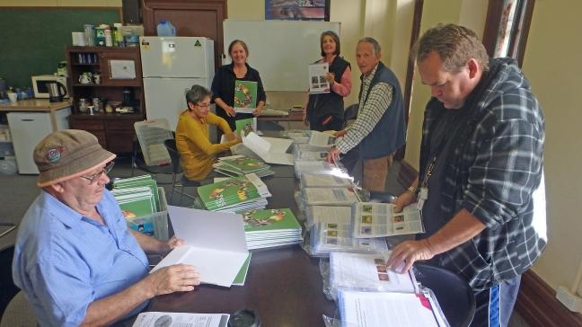 Resource Kit collating - Ken, Delree, Sue, Laura, Kevin & David
