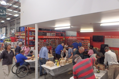 Bunnings - getting rhythm before other disability group arrives