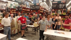 Final Bunnings box building day -Toni, disability services, CNBs & Mens Shed
